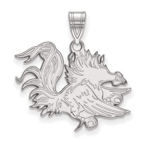 Sterling Silver University of South Carolina Gamecock Pendant