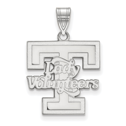 Sterling Silver 3/4in Lady Volunteers T Pendant