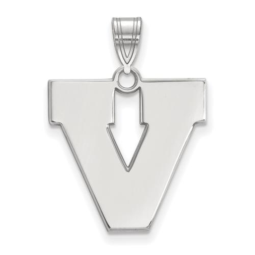 Sterling Silver 3/4in University of Virginia V Pendant