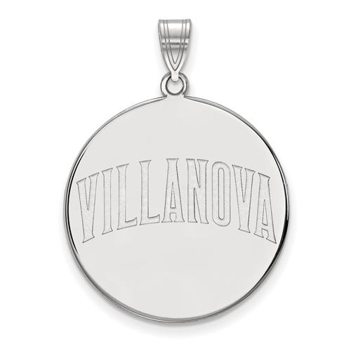Villanova University Round Pendant 1in 14k White Gold