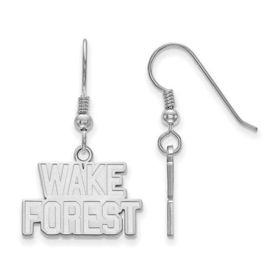 Sterling Silver Wake Forest University Small Dangle Earrings