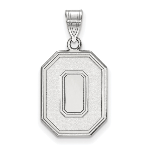 Sterling Silver 3/4in Ohio State University Block O Pendant