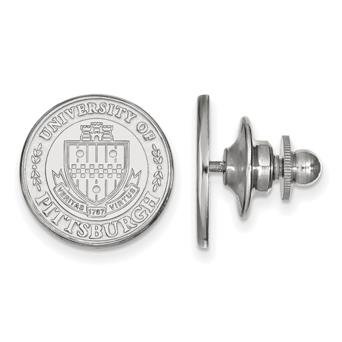 Sterling Silver University of Pittsburgh Crest Lapel Pin