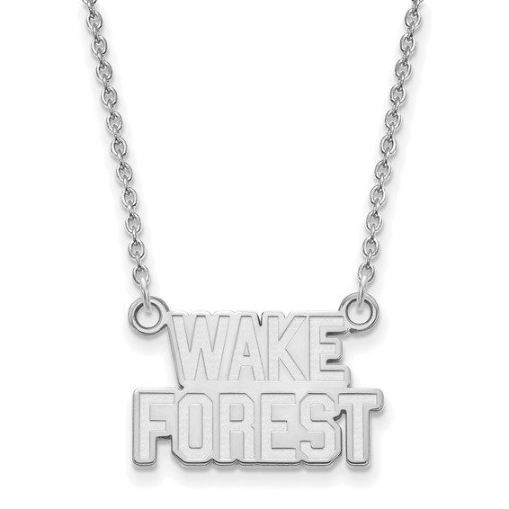 Wake Forest University Logo Necklace 10k White Gold