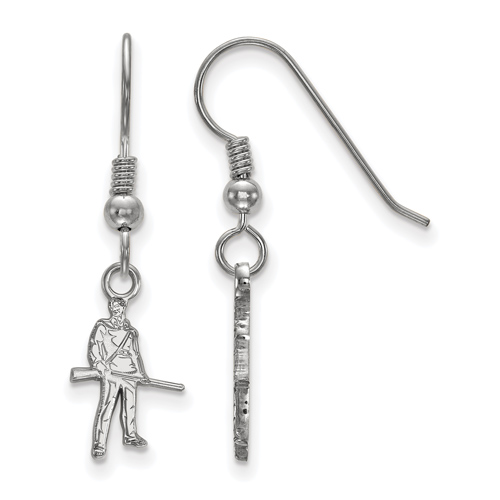 Silver West Virginia Mountaineers Extra Small Dangle Earrings