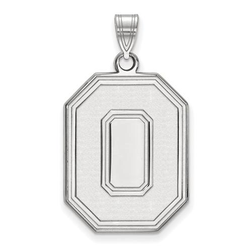 Sterling Silver 1in Ohio State University Block O Pendant
