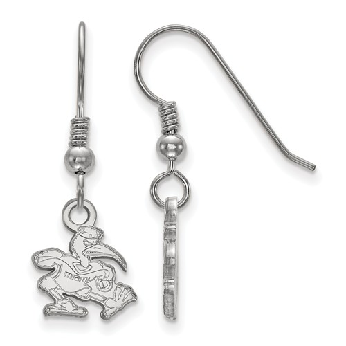 Sterling Silver University of Miami Ibis Extra Small Dangle Earrings