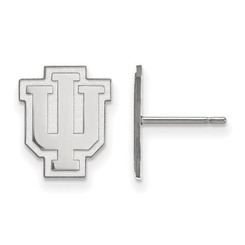 Sterling Silver Indiana University Outline Logo Small Post Earrings