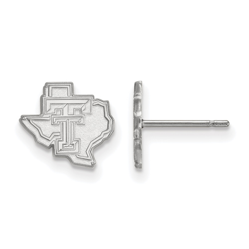 Sterling Silver Texas Tech University State Map Extra Small Post Earrings