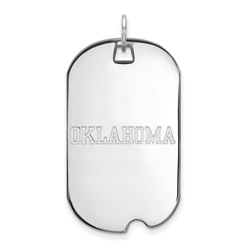 Sterling Silver University of Oklahoma Dog Tag