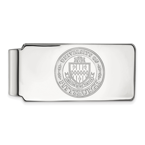 Sterling Silver University of Pittsburgh Crest Money Clip