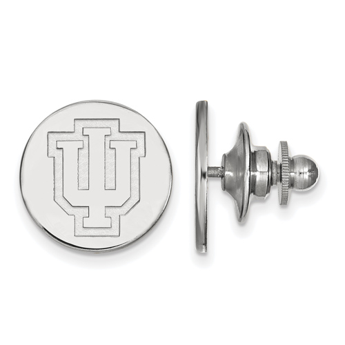 Sterling Silver Indiana University Outline Logo Lapel Pin