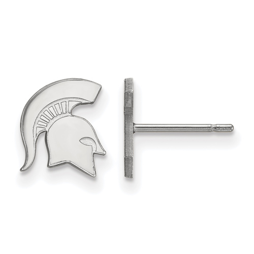 Sterling Silver Michigan State University Block S Extra Small Post Earrings