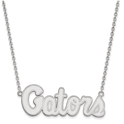 Sterling Silver University of Florida Gators Pendant with 18in Chain
