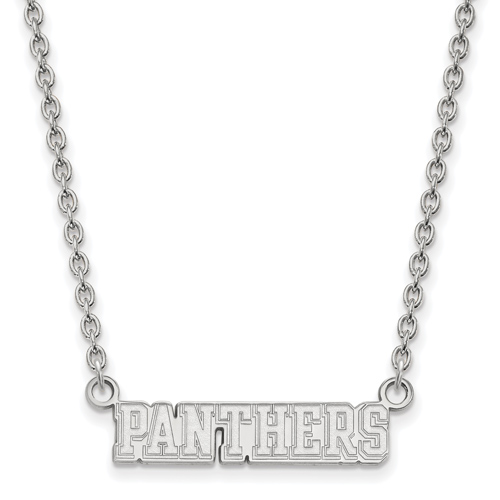 Silver University of Pittsburgh Panthers Pendant with 18in Chain