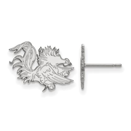 Silver University of South Carolina Gamecock Small Post Earrings