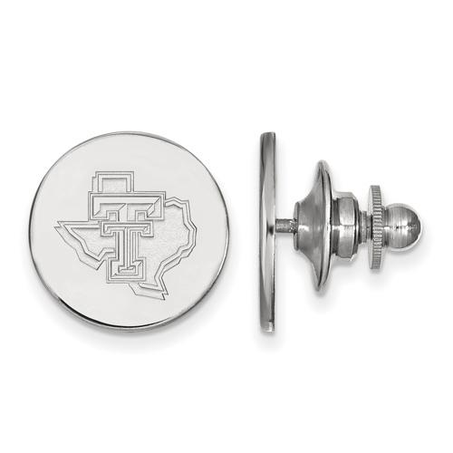 Sterling Silver Texas Tech University State Map Lapel Pin
