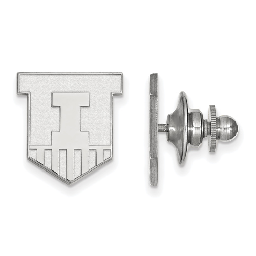 Sterling Silver University of Illinois Victory Badge Lapel Pin