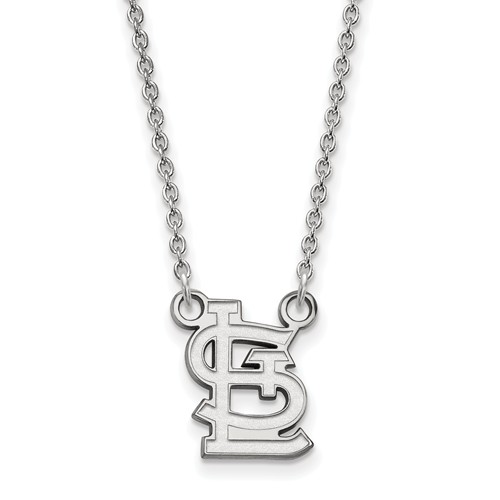 sterling silver 1 2in st louis cardinals stl pendant on 18in chain ss052crd 18. Black Bedroom Furniture Sets. Home Design Ideas
