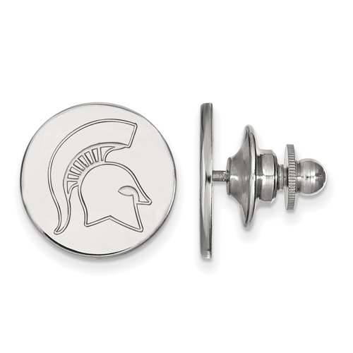 Sterling Silver Michigan State University Spartan Helmet Lapel Pin