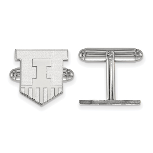Sterling Silver University of Illinois Victory Badge Cuff Links