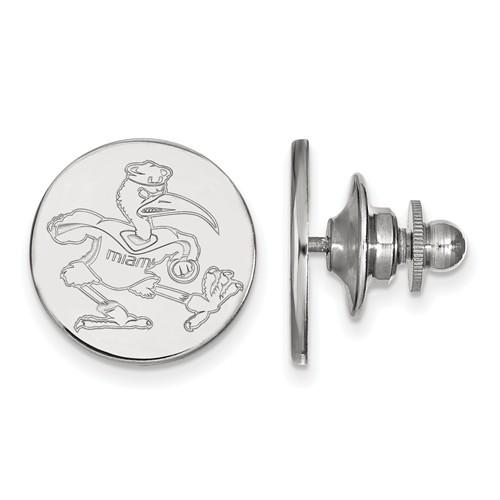 Sterling Silver University of Miami Ibis Lapel Pin
