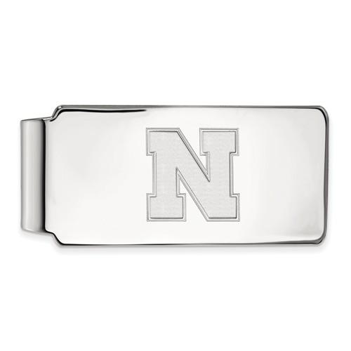 Sterling Silver University of Nebraska N Money Clip