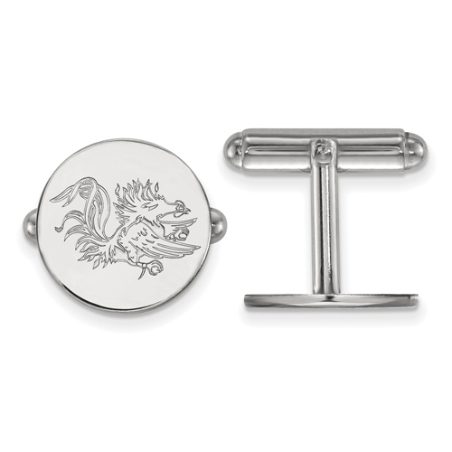 Sterling Silver University of South Carolina Gamecock Cuff Links