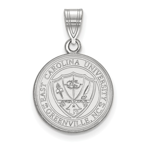 Sterling Silver 5/8in East Carolina University Seal Pendant