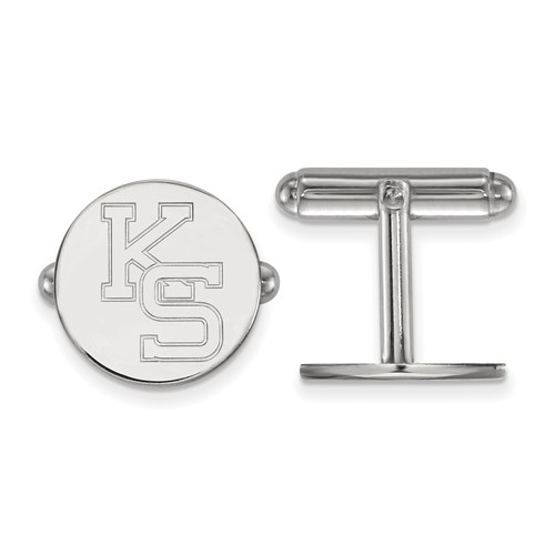 Kansas State University KS Cuff Links Sterling Silver