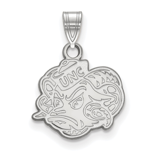 Sterling Silver 1/2in University of North Carolina Rameses Head Pendant