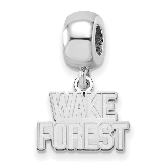 Wake Forest University Tiny Dangle Bead Sterling Silver