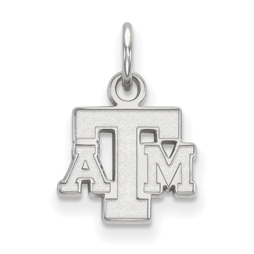 Sterling Silver 3/8in Texas A&M University Pendant