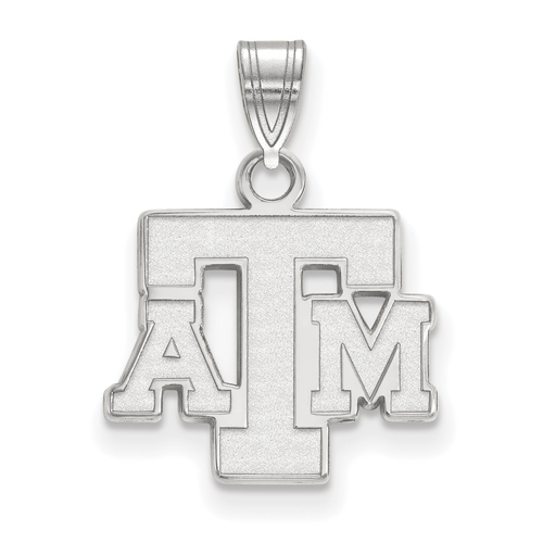 Sterling Silver 1/2in Texas A&M University Pendant