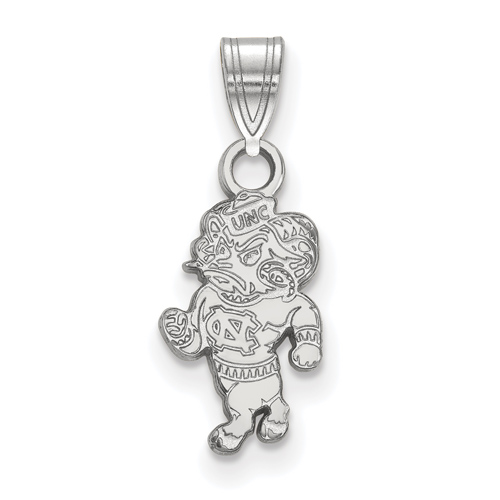 Sterling Silver 1/2in University of North Carolina Rameses Pendant