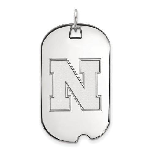 Sterling Silver University of Nebraska N Dog Tag
