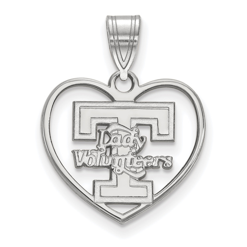 Sterling Silver 5/8in Lady Volunteers Pendant in Heart