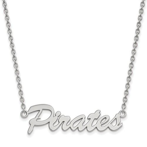 East Carolina University Pirates Pendant on Necklace Sterling Silver