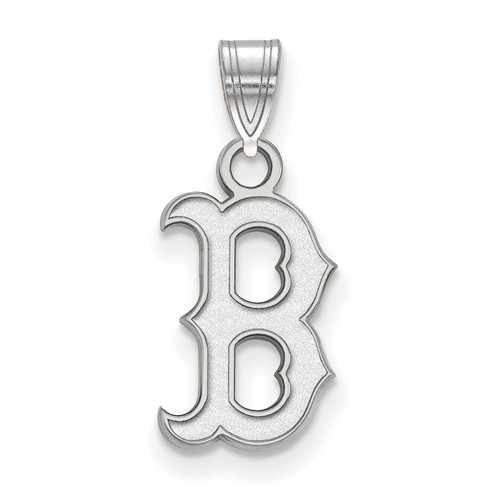 Sterling Silver 1/2in Boston Red Sox B Pendant