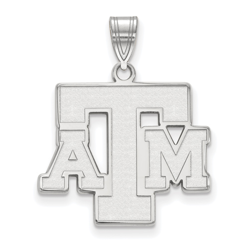 Sterling Silver 3/4in Texas A&M University ATM Pendant