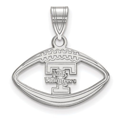 Sterling Silver 3/4in Lady Volunteers Football Pendant