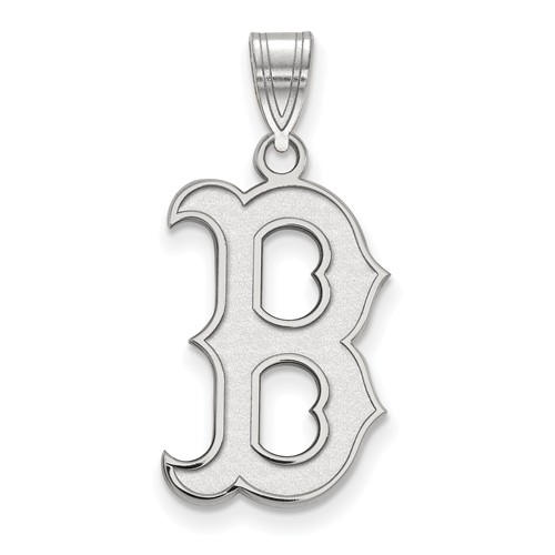 Sterling Silver 3/4in Boston Red Sox B Pendant