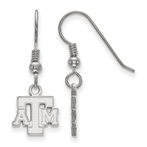 Sterling Silver Texas A&M University Extra Small Dangle Earrings