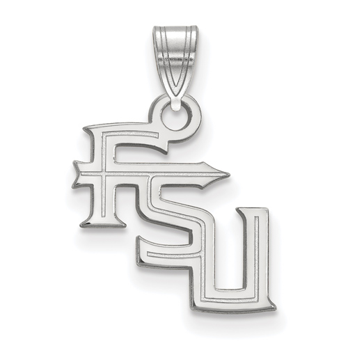 Sterling Silver 1/2in Florida State University FSU Pendant