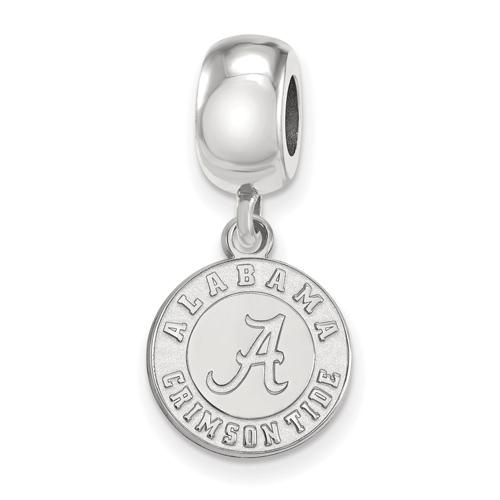 Sterling Silver University of Alabama Crimson Tide Small Dangle Bead