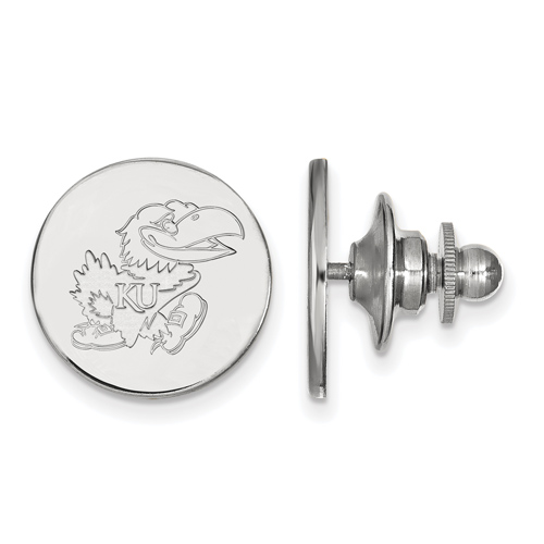 Sterling Silver University of Kansas Logo Lapel Pin