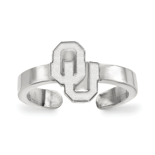Sterling Silver University of Oklahoma Toe Ring