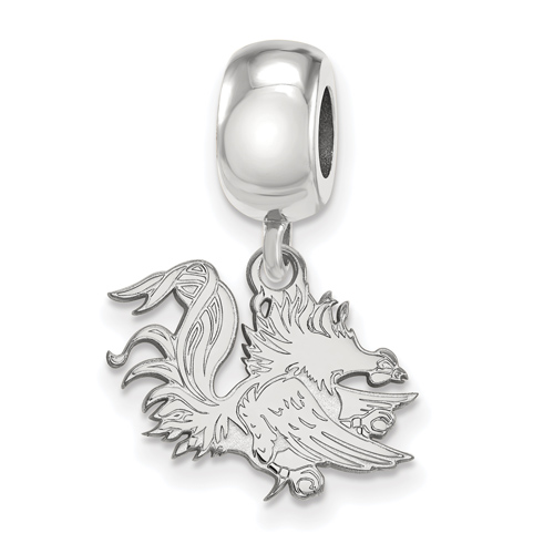 Sterling Silver University of South Carolina Gamecock Dangle Bead Charm