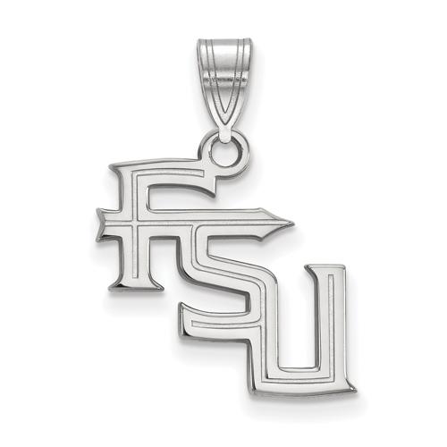 Sterling Silver 5/8in Florida State University FSU Pendant
