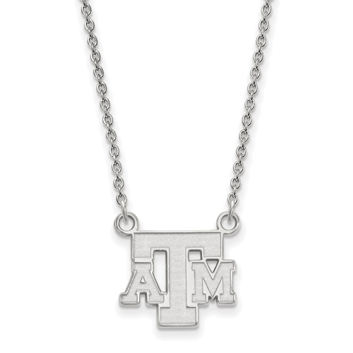 Sterling Silver Texas A&M University Logo Pendant with 18in Chain